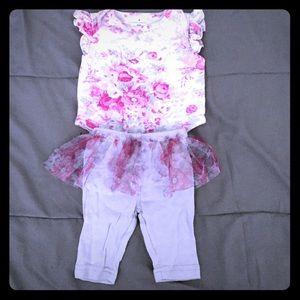 Laura Ashley baby girls tutu pants set size 0-3m